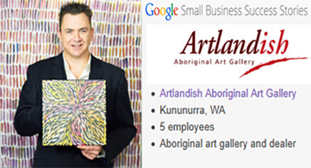 Artlandish Gallery featured on Google2 image